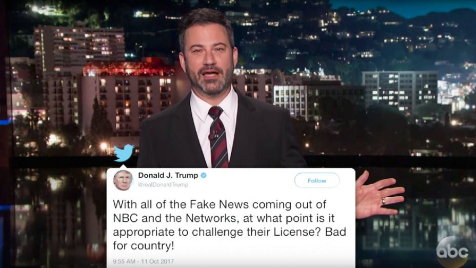 Jimmy Kimmel, Stephen Colbert, Seth Meyers Challenge Trumps Threat to NBC
