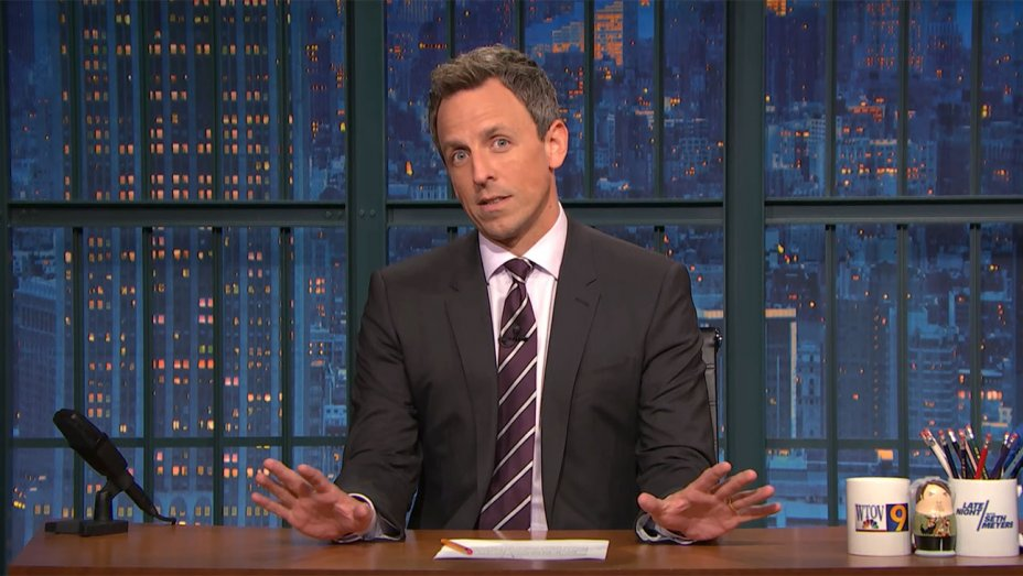 Seth Meyers Responds to Eminems Anti-Trump Cypher With Rap of His Own