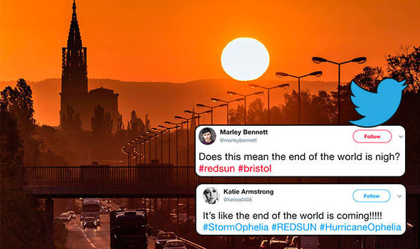 End is NIGH: Social media panic as blood red sun rises above UK in terrifying phenomenon