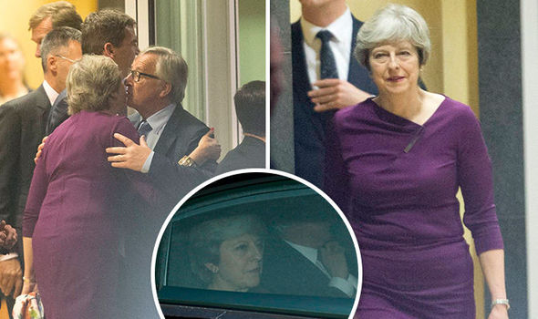 Brexit dinner SHOWDOWN: Theresa May arrives in Brussels for crunch talks