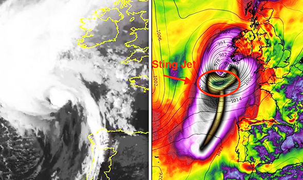 Hurricane Ophelia track: Storm develops huge 'STING JET' that is terrifying forecasters