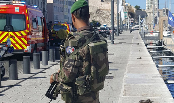 BREAKING: Marseille attack: Knifeman shot dead by army as one killed in stabbing