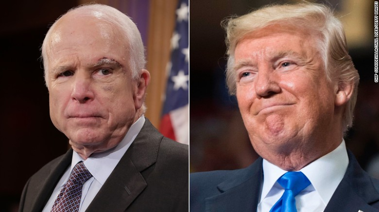 Trump warns McCain: Be careful ... I fight back