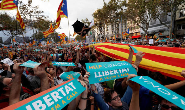 'This is a coup!' Catalonia chaos erupts with calls for independence NOW as Spain steps in