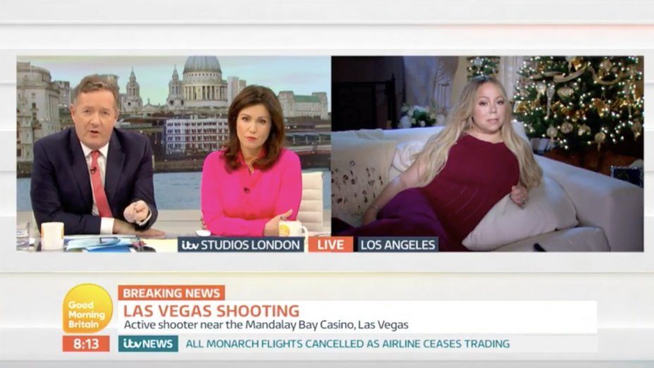 Mariah Carey Reacts to Vegas Shooting on Live TV: Its Terrible