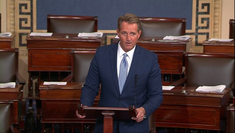 Sen. Jeff Flake announces retirement in dramatic anti-Trump speech