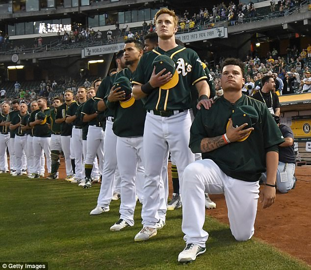 Oakland As catcher Bruce Maxwell arrested on gun charge