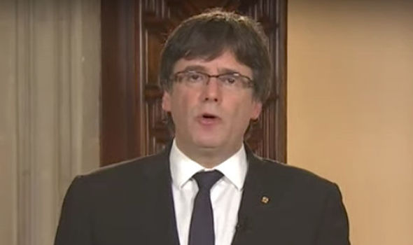 Catalonia leader attacks kings speech and insists region IS following democratic process