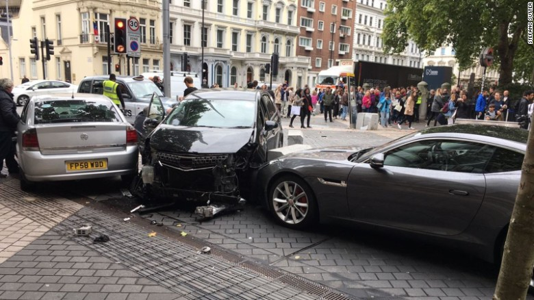 At least 11 people injured as car hits pedestrians near London museum