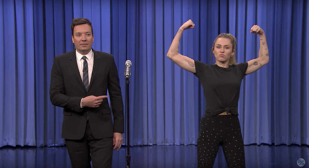 Miley Cyrus Lip Sync Battle With Jimmy Fallon Is Exhausting Just To Watch