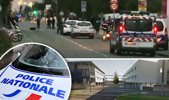 Toulouse terror: Three hurt as car deliberately drives into students outside a school
