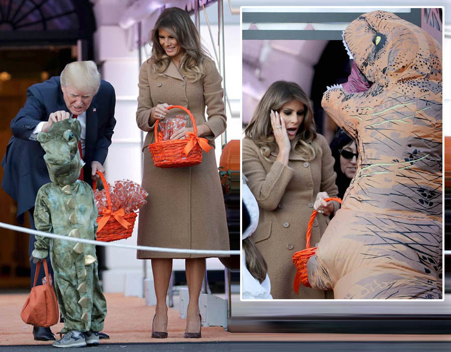 Melania Trump shocked by THIS at White House Halloween costume event