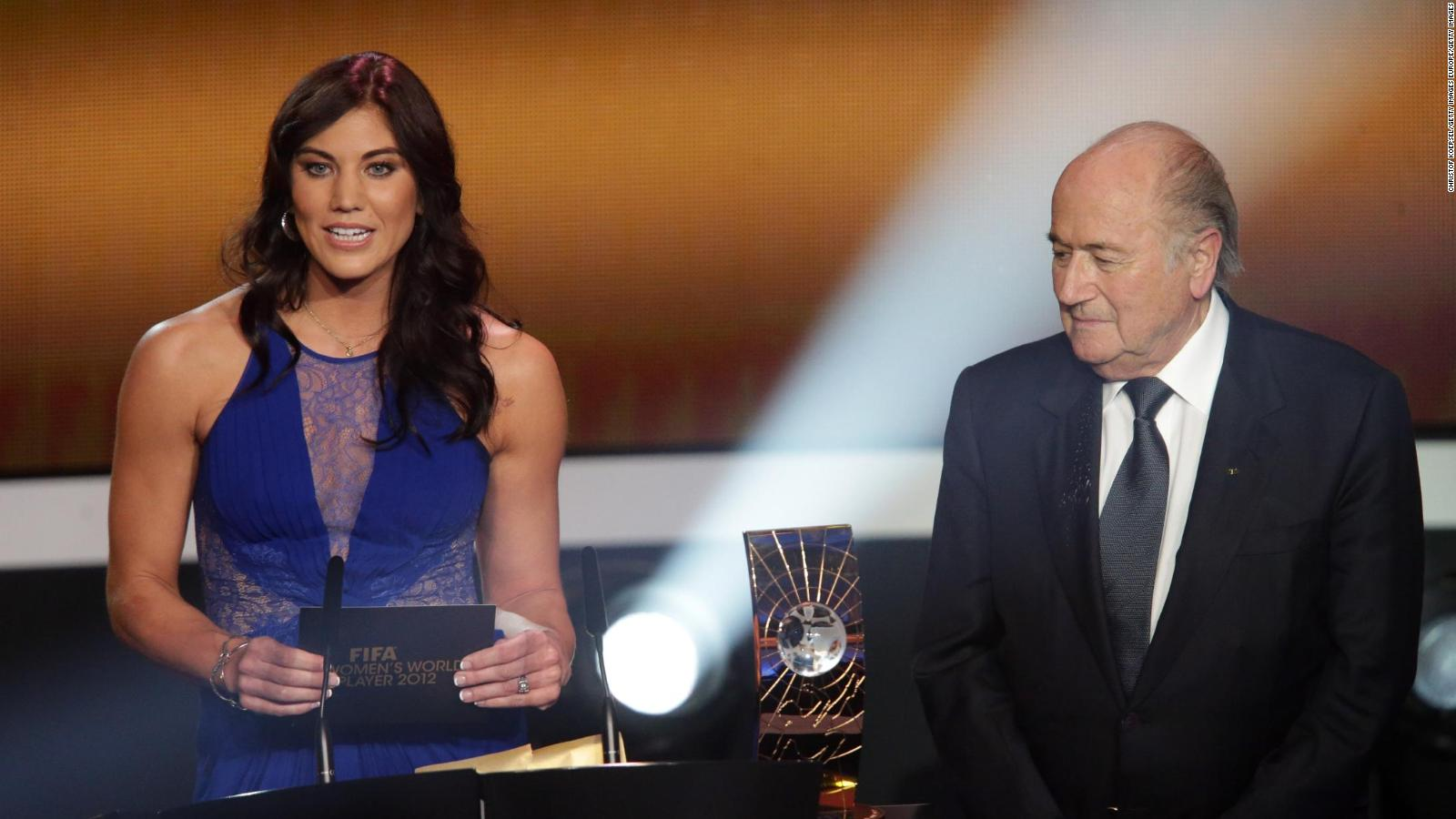 Soccer star Hope Solo says ex-FIFA chief grabbed her inappropriately