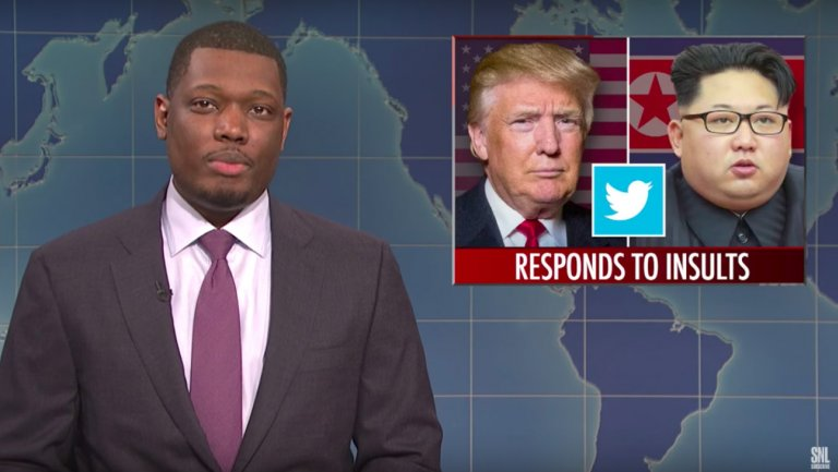 SNL: Michael Che Calls Trump Vain and Catty Over Kim Jong Un Tweet