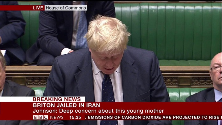 Boris Johnson apologises to Briton jailed in Iran as admits mistake in Commons