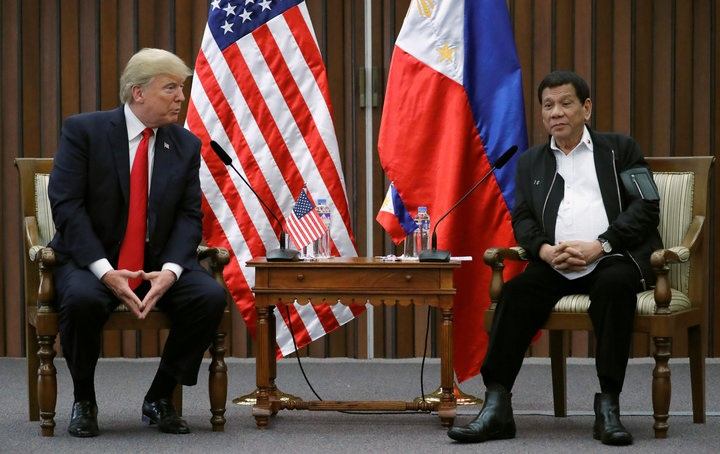 Trump Laughs As Philippine Leader Duterte Calls Journalists 'Spies'