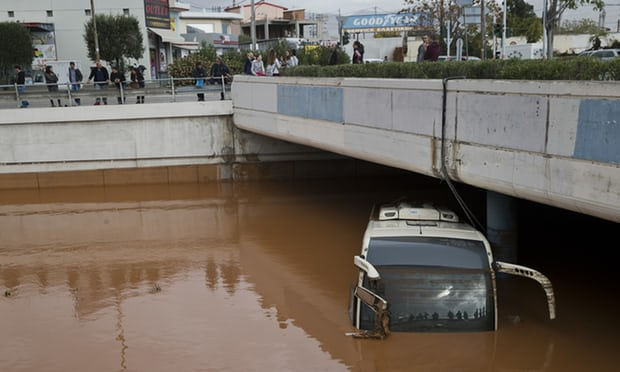 Deadly flash floods cause biblical damage in Athens