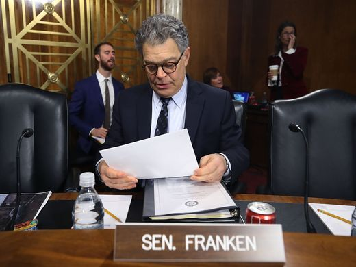 Sen. Al Franken accused of kissing and groping broadcaster Leeann Tweeden without her consent