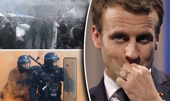 Violence on the streets of Paris as protesters rage against Macron for fifth day