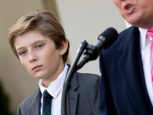 Barron Trump back in the spotlight for White House holiday events