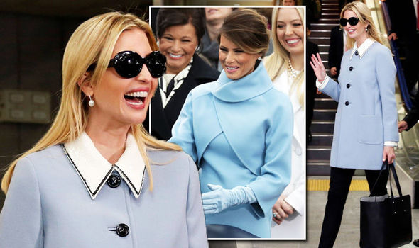 Ivanka Trump channels Melania's Jackie Kennedy style in prim baby blue coat