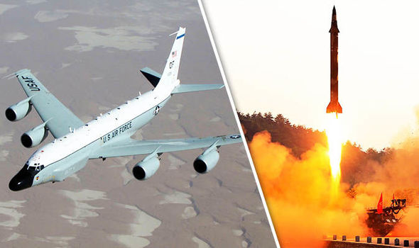 US spy plane scrambled amid fears North Korea is planning missile test TONIGHT