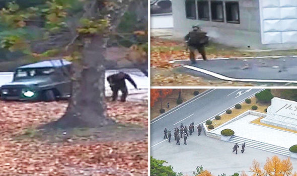 Watch: Shock footage of North Korean defector escaping across border under hail of bullets