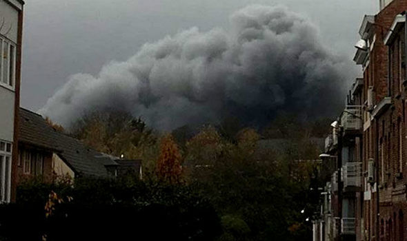 Huge 'toxic' cloud engulfs Brussels - Locals told to STAY INDOORS as 200 evacuated