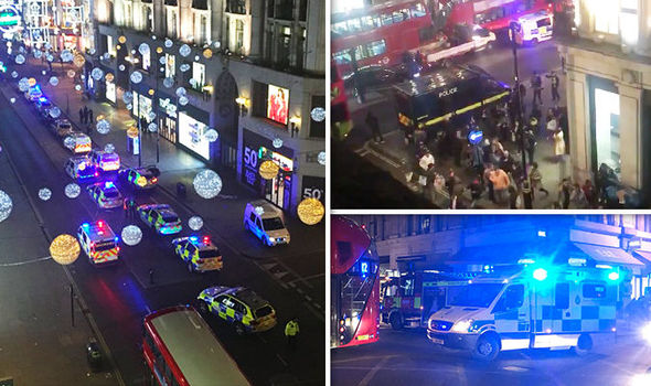 Oxford Circus terror: Shots heard on Oxford St police warn Black Friday shoppers STAY AWAY