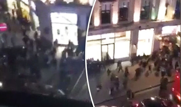 Oxford Circus terror: Video shows shoppers run away SCREAMING after shots fired