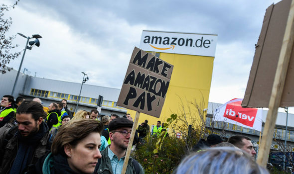 Black Friday CHAOS: Amazon workers in Italy and Germany WALK OUT - 'we want a bonus'