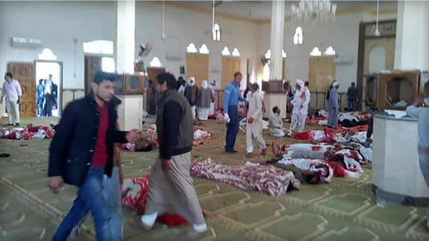 Nearly 200 reportedly killed in Egypt mosque attack