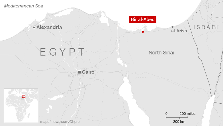 Egypt hunts down killers after 235 killed in mosque attack