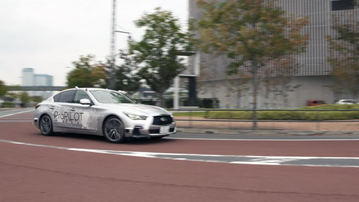 Japans latest driverless car hits the Tokyo highway