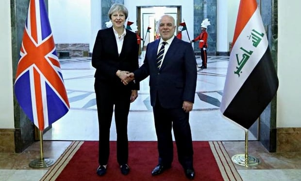 Theresa May makes secret visit to Iraq