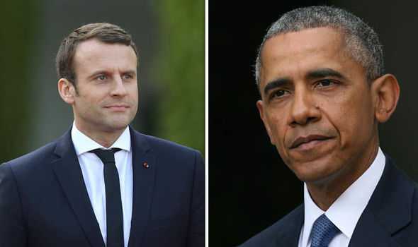 What's Barack up to? Obama to jet into Paris for 'secret' talks with Emmanuel Macron