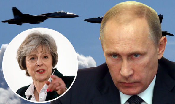 UK military scramble to hide sensitive equipment as Russia fly SPY PLANE over nation