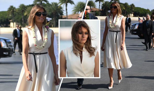 Donald Trump Asia tour: Melania Trump STUNS in chic white dress in Hawaii