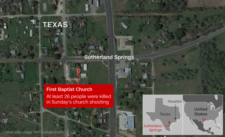 At least 26 people killed in shooting at Texas church
