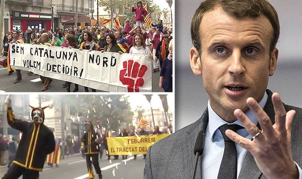 French Catalonia independence STUNS Macron: Thousands DEMAND to join Catalan state