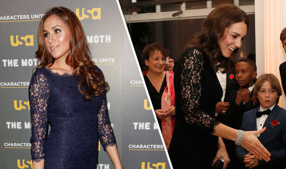 Kate Middleton COPIES Meghan Markles style in black lace dress at charity gala dinner
