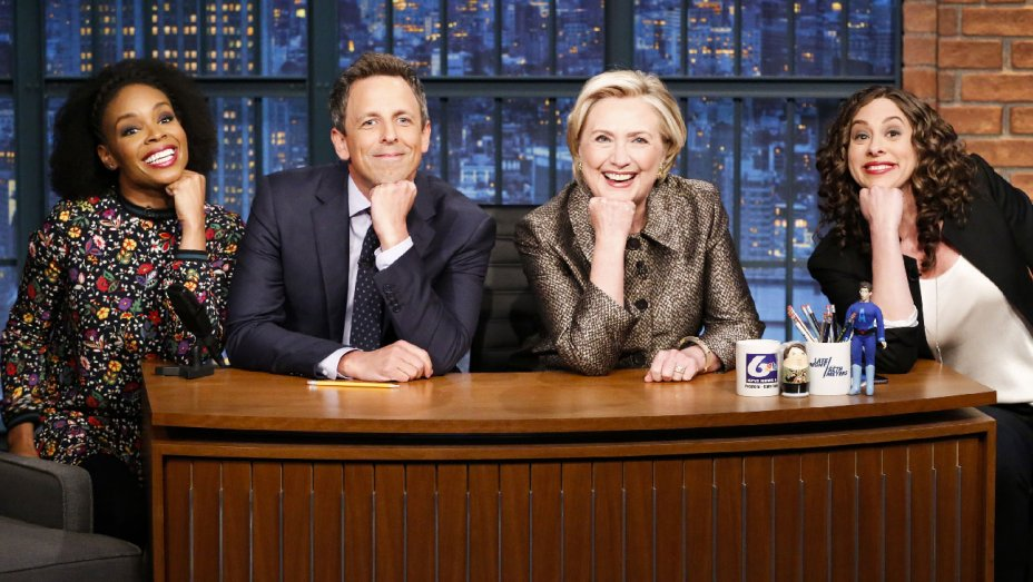 Hillary Clinton Helps Seth Meyers With Jokes He Cant Tell