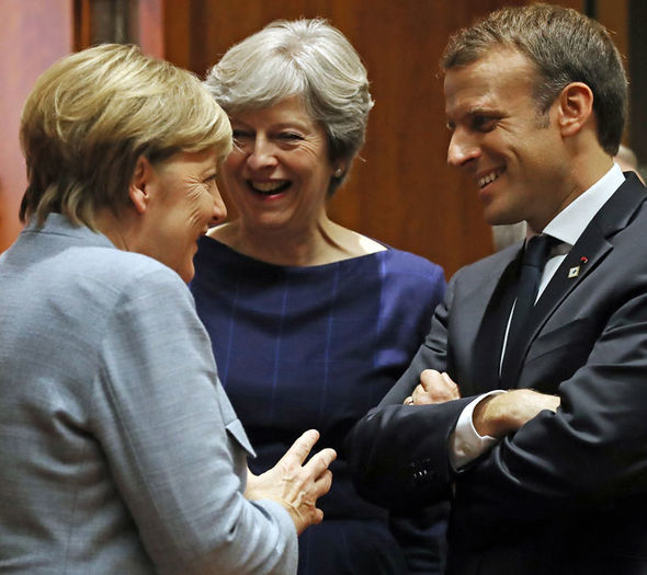 Merkel and Macron's shock BREXIT BLOCK: Germany and France demand HALT on talks
