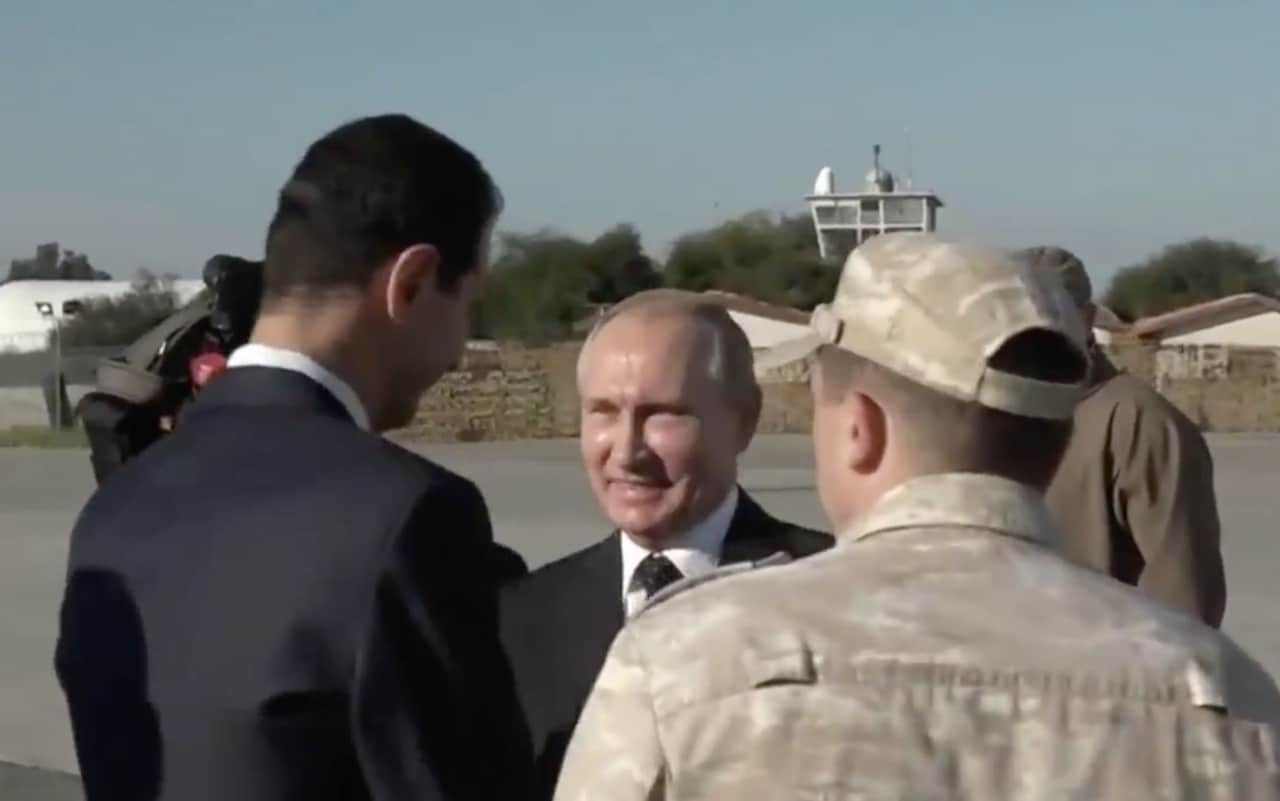 Vladimir Putin announces Russian withdrawal from Syria during visit to airbase