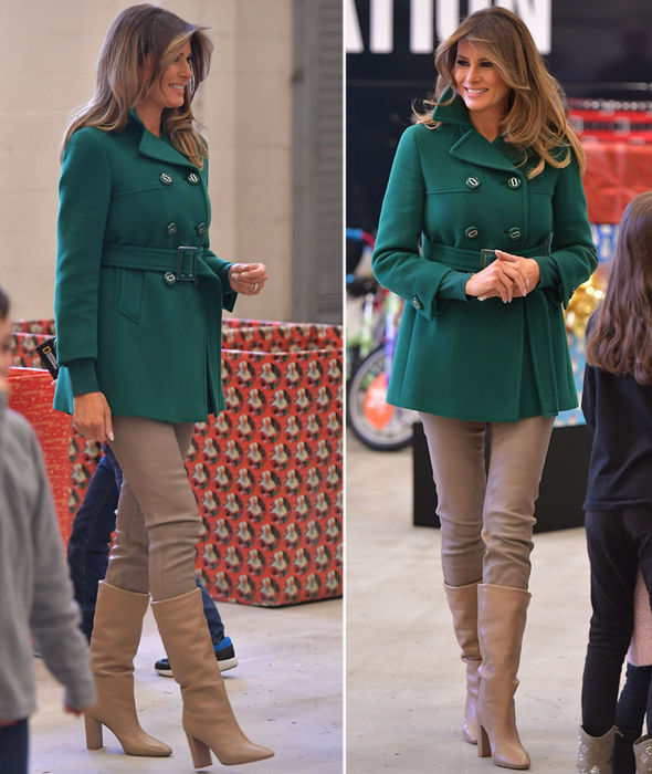 Melania Trump shows off ENDLESS long legs in skinny jeans and leather boots