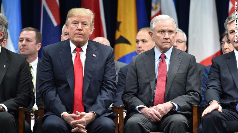 3 awkward pictures that tell you everything about how Donald Trump and Jeff Sessions feel about each other