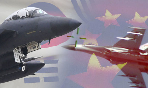 World War 3 threat: China fighter jets enter NO entry zone between North Korea and South