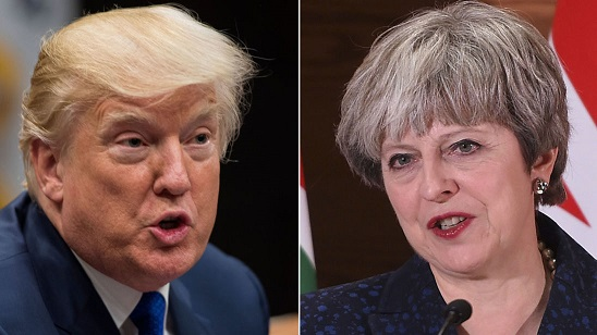 May and Trump hold first call since tweet row