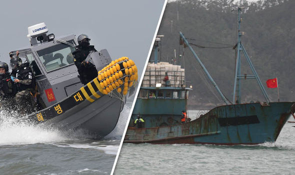 South Korea opens fire on ships from China after they CHARGE at patrol boat