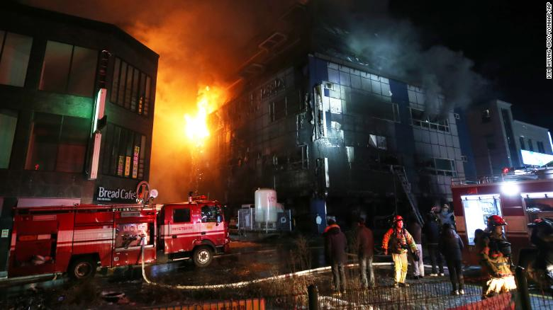 South Korea fire: 29 killed as flames rip through Jecheon building